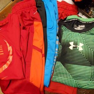 Youth Medium Nike and Under Armor bundle